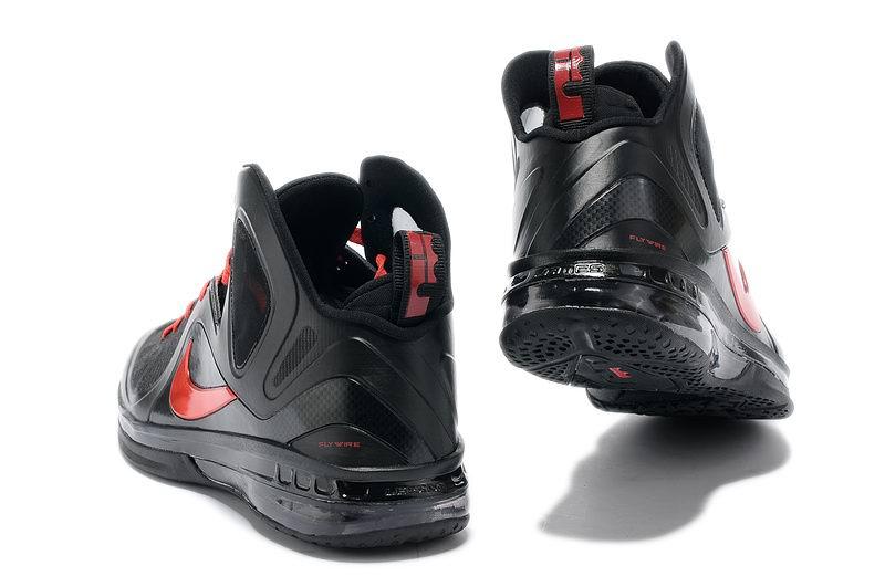 cheap-nike-lebron-9-p-s-elite-game-four-away-pe-black-red-basketball-shoes-583-2