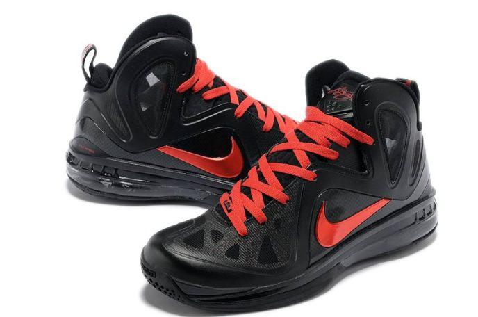 cheap-nike-lebron-9-p-s-elite-game-four-away-pe-black-red-basketball-shoes-583-4