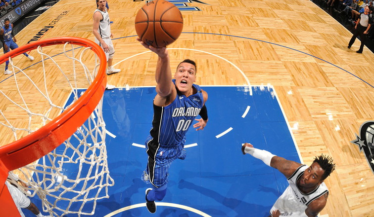 Aaron Gordon floats to the rim against the Nets in Orlando (NBA.com)